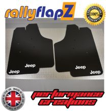 RENEGADE (2015+) BLACK MUDFLAPS LOGO WHITE